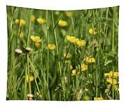Buttercups And Green Grass At Moore State Park Tapestry