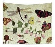 Butterflies, Insects And Flowers Tapestry