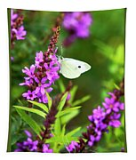 Butterfly And Bouquet Tapestry