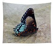 Butterfly Blue On Groovy 2 Tapestry
