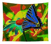 Butterfly Blues Tapestry