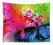 Butterfly Color Explosion Tapestry