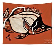 Butterfly Fish In Watercolor Tapestry