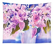 Pink Butterfly Flowers Tapestry