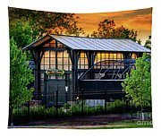Butterfly House At Sunset Tapestry