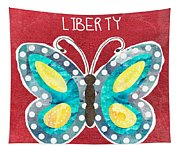 Butterfly Liberty Tapestry