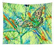 Butterfly Mosiac Tapestry