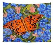 Butterfly Orange Tapestry