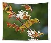 Buttery Yellow Warbler Tapestry