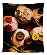 Button Sack Lollypop Monsters Tapestry
