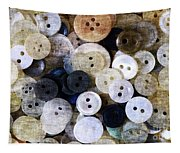 Buttons In Grunge Style Tapestry