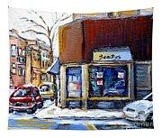 Buy Original Montreal Paintings Beauty's Winter Scenes For Sale Achetez Petits Formats Tableaux  Tapestry