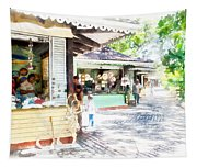 Buying Items In These Shops On The Street Tapestry