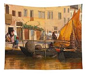 By The Canal Tapestry