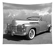 Bygone Era - 1941 Cadillac Convertible In Black And White Tapestry