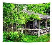 Cabin At The Top Mt Leconte Tapestry