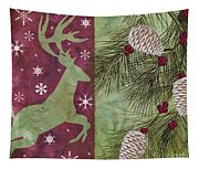 Cabin Christmas II Tapestry