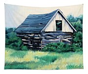 Cabin In The Clearing Tapestry