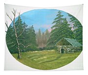 Cabin In The Meadow Tapestry