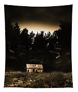 Cabin In The Woodlands  Tapestry