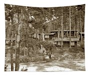 Cabins At Carmel Highlands Inn Circa 1930 Tapestry
