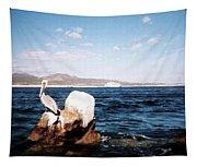 Cabo San Lucas Pelican Tapestry