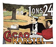 Cacao Karstel - Vintage Cacao Advertising Poster Tapestry
