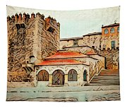 Caceres Spain Artistic Tapestry
