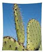 Cactus Against Blue Sky Tapestry
