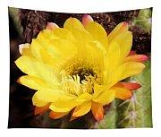 Cactus Blooms Yellow 050214k Tapestry