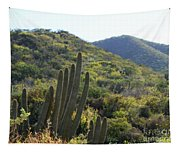 Cactus In The Desert  Tapestry