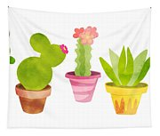 Cactus Plants In Pretty Pots Tapestry