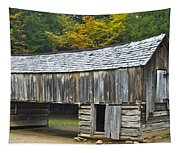 Cades Cove Barn Tapestry