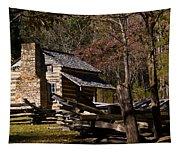 Cades Cove Cabin Tapestry