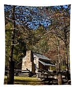 Cades Cove Early Settler Cabin  Tapestry