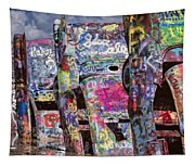 Cadillac Ranch Afternoon II Tapestry