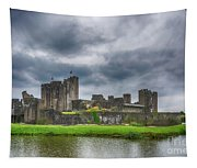 Caerphilly Castle North View 3 Tapestry