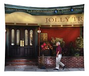 Cafe - Jolly Trolley Tapestry