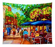 Cafe On Prince Arthur  In Montreal  Tapestry