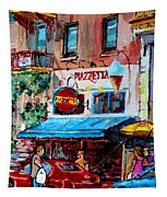 Cafe Piazzetta  St Denis Tapestry