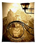 Cafe Sign In Bavarian Alps Tapestry
