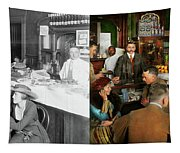 Cafe - Temptations 1915 - Side By Side Tapestry