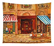Cafe Vieux Montreal Tapestry