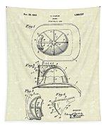 Cairns Helmet 1932 Patent Art Tapestry by Prior Art Design