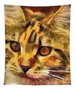 Calico Cat Tapestry