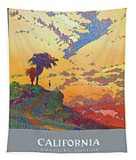 California - America's Vacation Land And New York Central Lines - Retro Travel Poster - Vintage Tapestry
