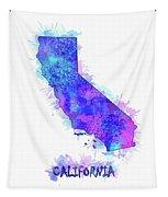 California Map Watercolor 2 Tapestry
