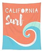 California Surf- Art By Linda Woods Tapestry by Linda Woods