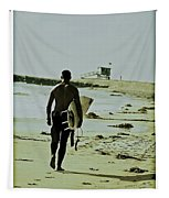 California Surfer Tapestry