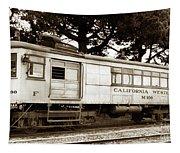 California Western  M 100 Gas Railcar  Skunk Train  Circa 1930 Tapestry